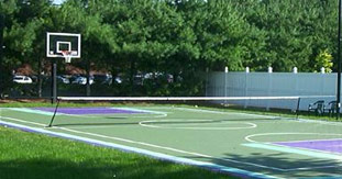 Backyard Tennis Court backyard court - backyard basketball court / outdoor basketball hoops