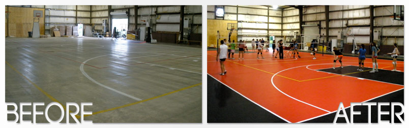 Indoor Courts Before And After