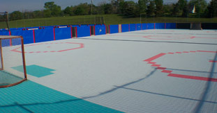 Inline Roller Hockey Inline Skating Rink Roller Skate Hockey - Backyard roller hockey rink