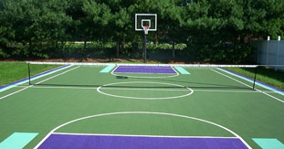 Backyard Tennis Court tennis court construction | build an outdoor / indoor tennis court